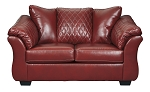 Alastair Loveseat in Red