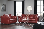 Alastair Sofa and Loveseat in Red