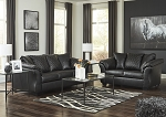 Alastair Sofa and Loveseat in Black