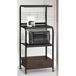 1304 Black and Brown Kitchen Cart