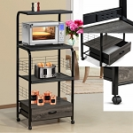 1304 Black and Grey Kitchen Cart