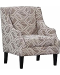 Artem Brown Leaf Accent Chair