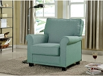 Brux Blue Accent Chair