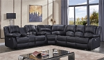 Brogan Top Grain Leather Power Sectional