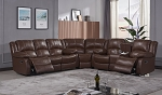 Foster Genuine Leather Match Reclining Sectional