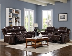 Haysi Top Grain Leather Reclining Sofa Set