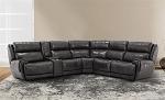 Juneberry Full Power Top Grain Leather Sectional