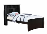 Jaymee Twin Bed with Bookshelf Headboard