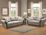 Kyran Sofa and Loveseat in Otter