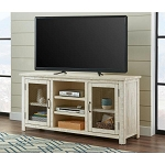 Raminda Antique White TV Stand
