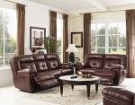 Tristan Genuine Leather Reclining Sofa and Loveseat