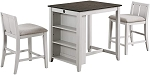Bethan 3Pc Counter Set W/ Storage shelves and Usb Port