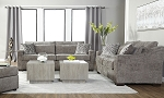 Camino Sofa and Loveseat in Gunmetal
