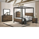 Curtis 7 Pc Canopy Bedroom Set