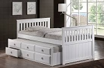 Deaver Twin Trundle Bed with Drawers