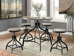 Decatur 5 Pc Adjustable Height Dinette Set