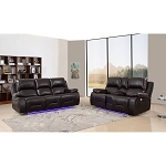 Flora Full Power Reclining Sofa and Loveseat