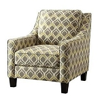 Martina Gray/ Yellow Accent Chair