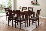 Parker Brown 7 Pc Dining Set