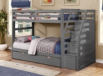 Rayburn Triple Twin Bunkbed with Staircase