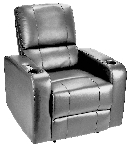 Zinnia Power Theater Recliner in Gray